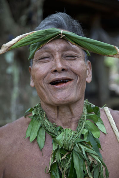 Chief chewing beetle nut | Tamil village | Federated States of Micronesia