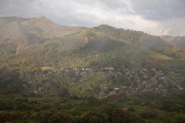 Picture of Navala (Fiji): The village of Navala seen from a ridge in the early morning