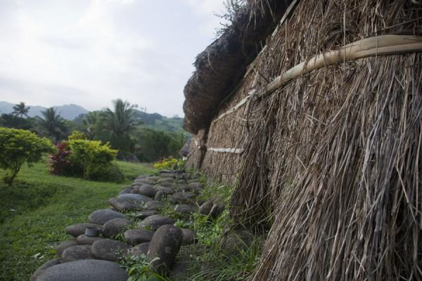Picture of Navala (Fiji): Thatched walls are sometimes used instead of bamboo in the bure of Navala
