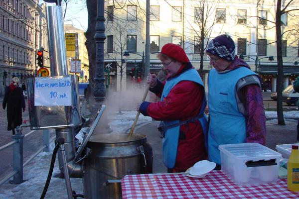 Picture of Food stall on Christmas market in Helsinki