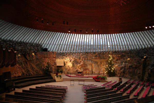 Picture of Helsinki Churches (Finland): Helsinki: interior of Temppeliaukio or Temple church