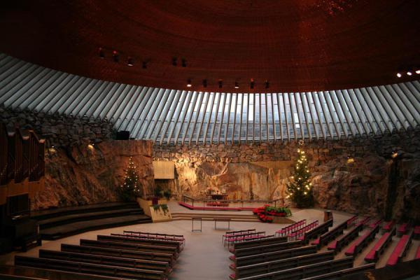 Inside of Temppeliaukio church | Helsinki Churches | Finland