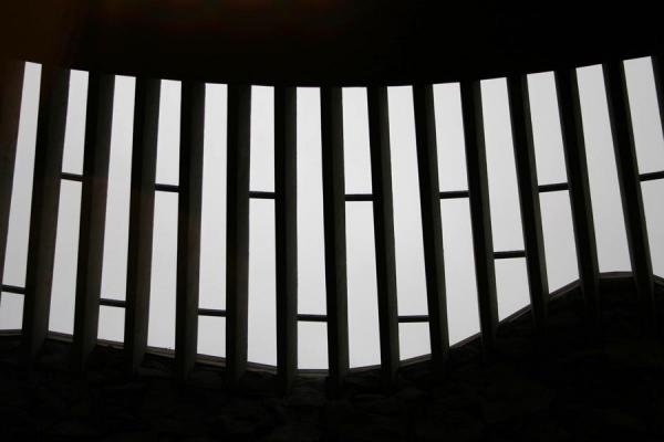 Picture of Helsinki: detail of the windows of Temppeliaukio or Temple church