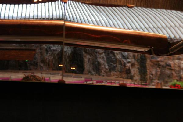 Picture of Helsinki: reflection of interior of Temppeliaukio or Temple church