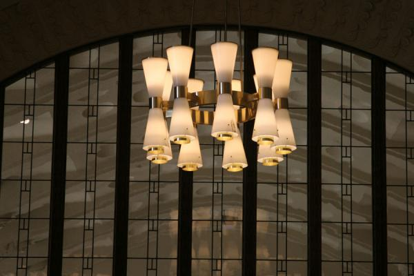 Picture of Interior of Helsinki station: lamps in the central hall - Finland - Europe
