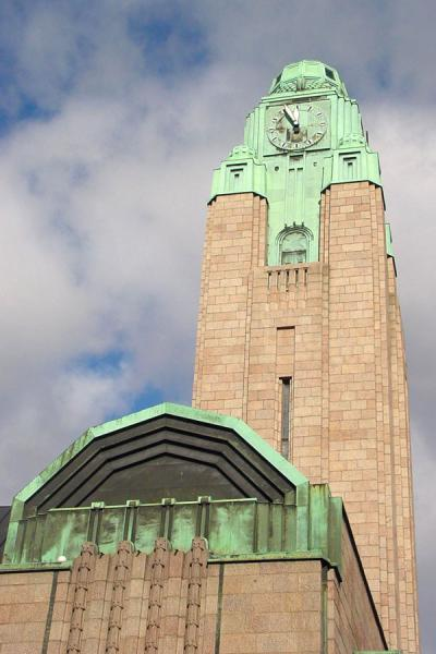 Foto van Clock tower of Helsinki Central stationHelsinki Station - Finland
