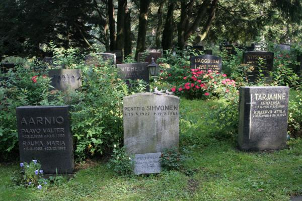 Picture of Hietaniemi Cemetery (Finland): Hietaniemi Cemetery: some of the graves of this immense cemetery