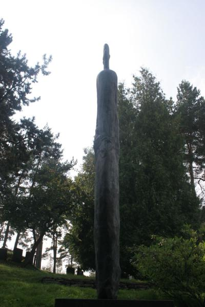 Picture of Tall and thin statue at Hietaniemi CemeteryHelsinki - Finland