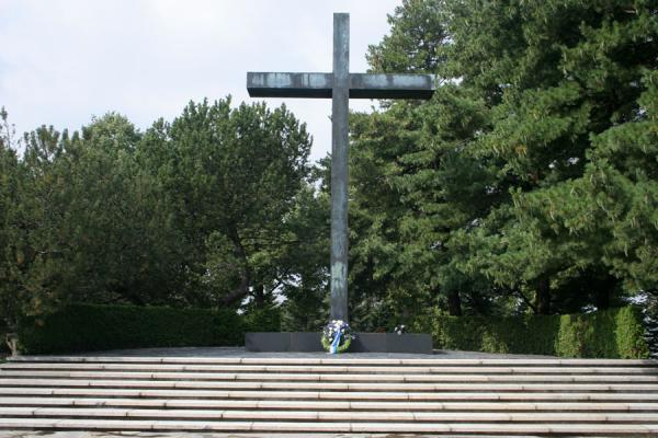 Picture of Hietaniemi Cemetery (Finland): Cross at Hietaniemi Cemetery