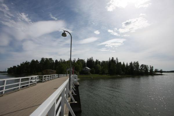 Picture of Seurasaari island and bridge
