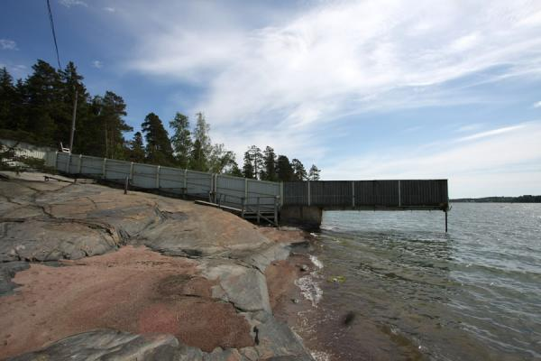 Picture of Nudist beach at Seurasaari is segregated