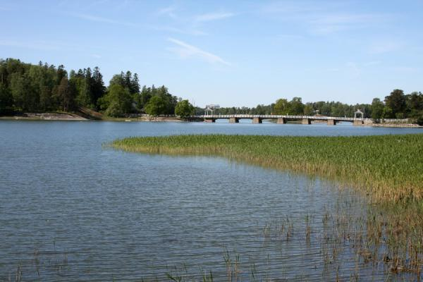 Picture of Seurasaari island on the left, connected by a bridge - Finland - Europe