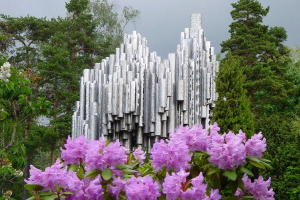 Sibelius Monument and flowers | Sibelius Monument | Finland