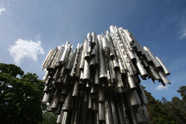 Sibelius Monument and trees of the park surrounding it | Sibelius Monument | Finland