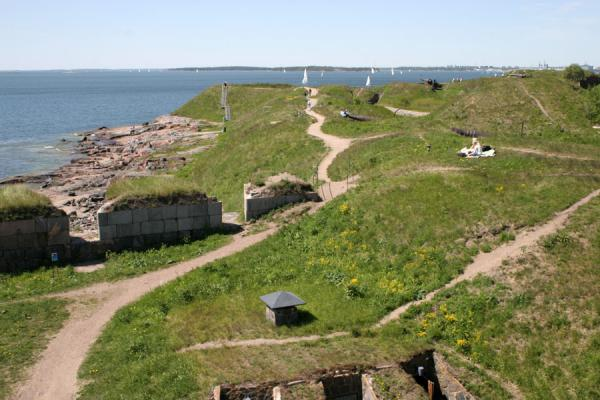 Picture of Fortifications of Suomenlinna on the southern shore of Kustaanmiekka island