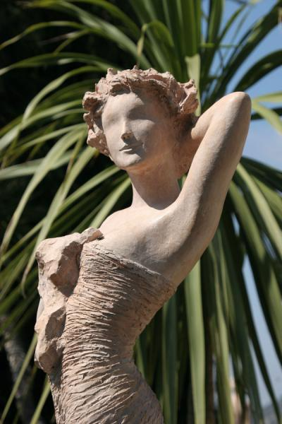 Picture of Eze: sculpture of Jean-Philippe Richard in the Exotic Garden