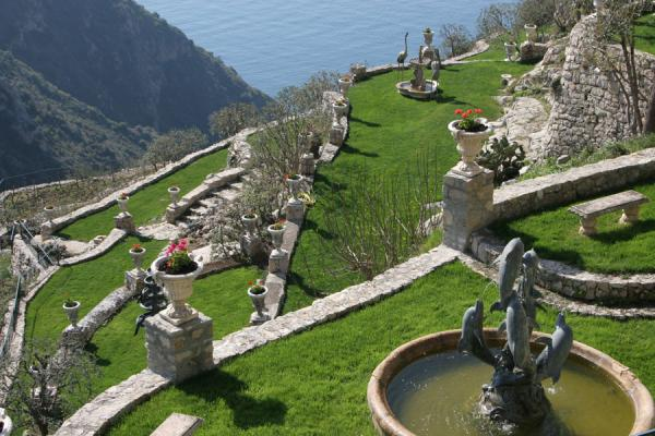 Picture of Eze (France): Eze: the gardens that are constructed on the hillside at the entrance