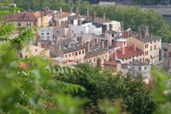 Foto de Part of the old city centre seen from aboveLyon - Francia
