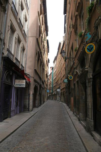 Narrow street in the old city of Lyon | Lyon Old City | France