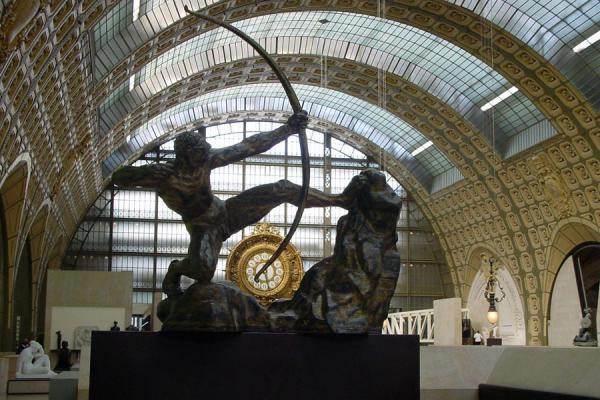 Picture of Musée d'Orsay (France): Sculpture and huge clock inside Musée d'Orsay