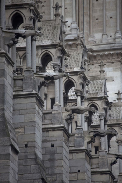 Foto de View towards one of the western towers from the outsideCatedral de Notre Dame - Francia