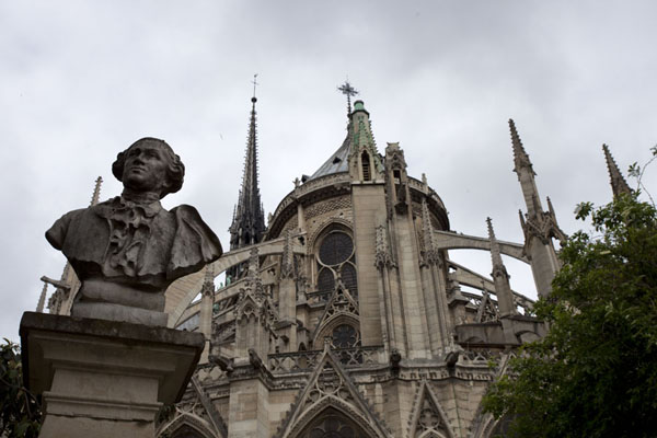 Looking up the Notre Dame from the eastern side | Notre Dame de Paris | France