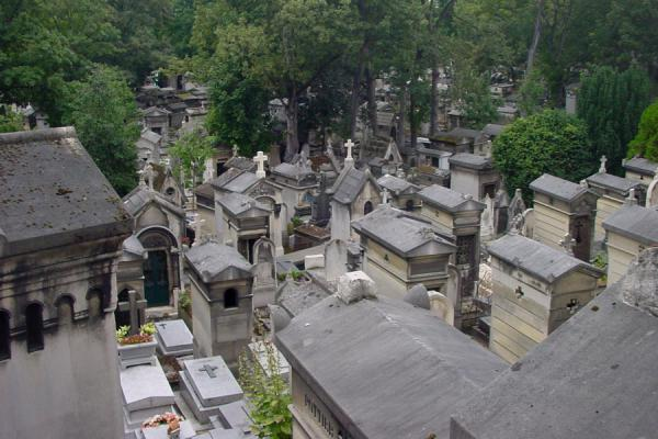 One of the many sections of graves | Père Lachaise Cemetery | France