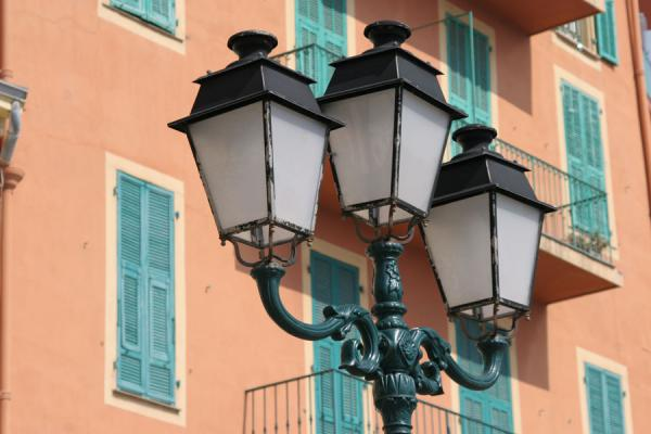 Picture of Villefranche sur Mer (France): Villefranche sur Mer: lanterns on the waterfront