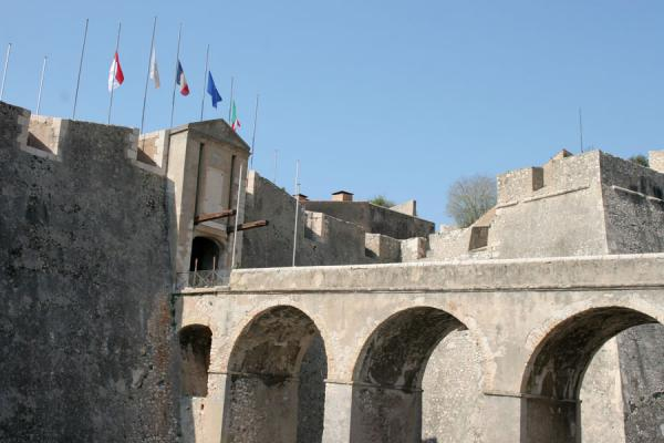 Picture of Villefranche sur Mer: entrance to the Saint Elme citadel