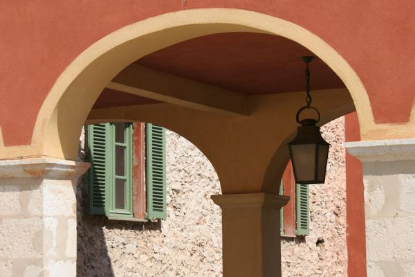 Detail of arches in the Saint Elme citadel | Villefranche sur Mer | France