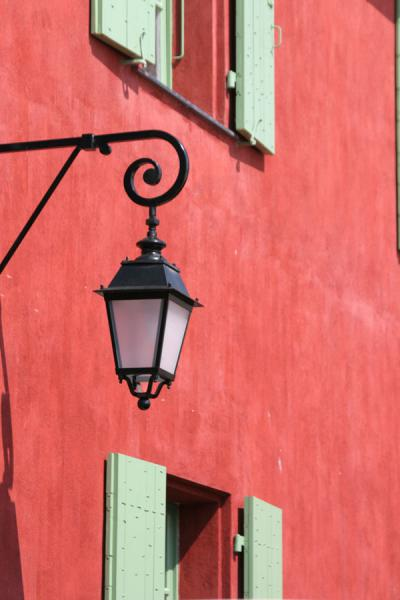 Lantern against one of the old walls of the Saint Elme citadel | Villefranche sur Mer | France