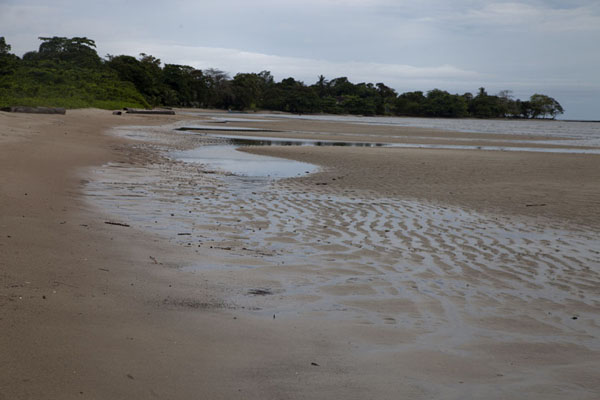 Low tide exposing the beach at Cap Esterias | Cap Esterias | Gabon