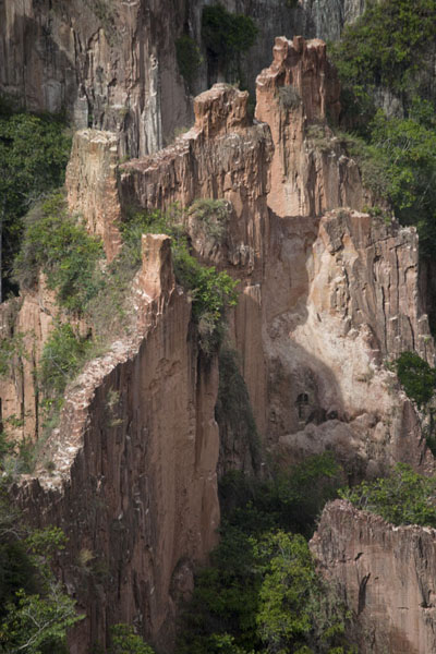 Pinnacles inside the canyon of Léconi | Léconi canyon | Gabon