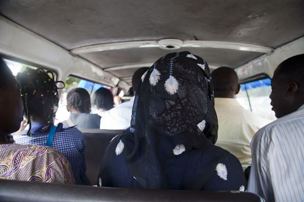 Inside a taxi-bus: a safer and cheaper way to go | Libreville taxi drivers | Gabon