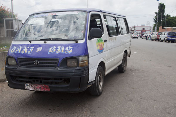 Picture of Taxi-bus waiting to leave at the Gare Routière in Libreville