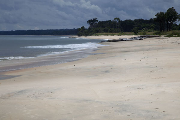 The white beach of Nyonié | Nyonié Wonga Wongué Reserve | 加彭