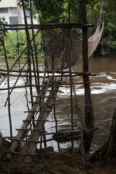 The Pont de Liane, or Vine Bridge, at Poubara | Poubara waterfall | Gabon