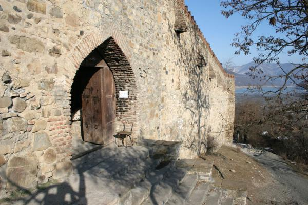 Picture of Ananuri castle (Georgia): Door of Ananuri church in a thick wall