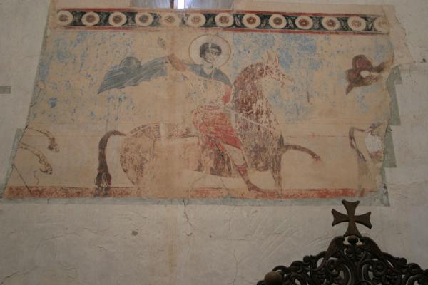 Some of the frescoes in the church of Ananuri | Ananuri castle | Georgia