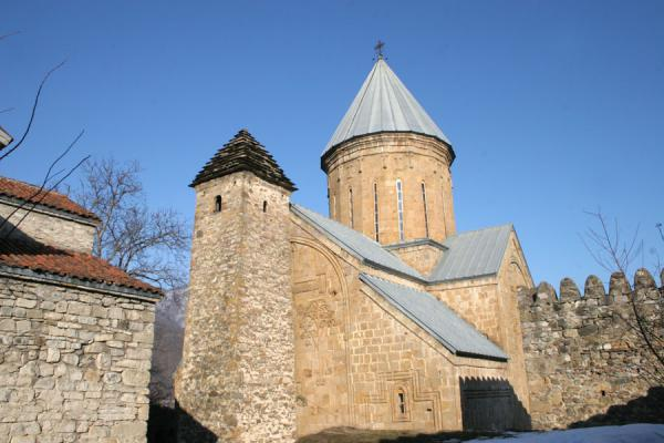 Picture of Ananuri castle (Georgia): Ananuri church and tower