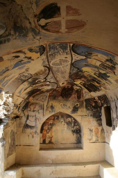 Some of the frescoes inside the church of the annunciation in Udabno monastery | Davit Gareja | Georgia