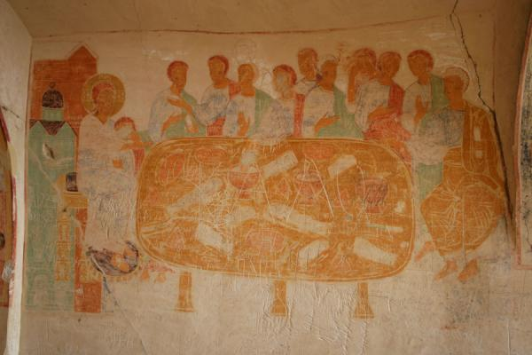 The last supper on fresco in the refectory | Davit Gareja | Georgia