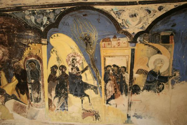 Picture of Davit Gareja: detail of frescoes in church of annunciation
