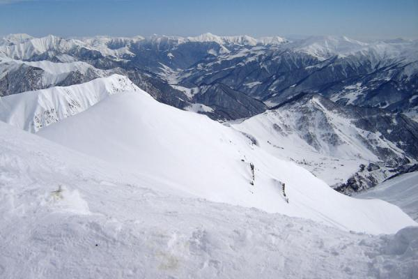 Picture of Gudauri Skiing (Georgia): Kaukasus mountains near Gudauri seen from one of the higher slopes