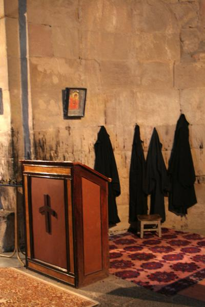 Robes hanging on the wall of Jvari Church | Jvari Church | Georgia