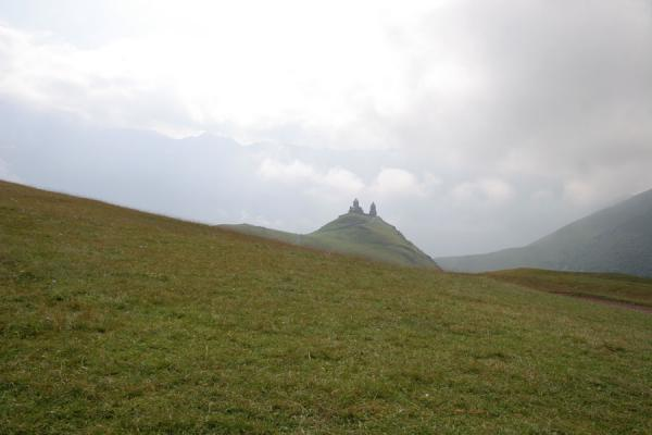 Picture of Mtatsminda Zamemba (Georgia): Kazbegi: Mtatsminda Zamemba seen from a distance