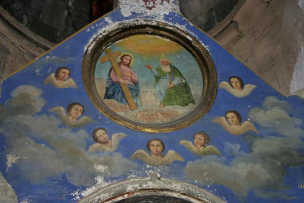 Picture of Mtatsminda Zamemba (Georgia): Kazbegi: detail of altar inside Mtatsminda Zamemba church