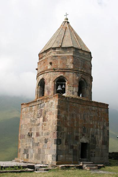 Picture of Mtatsminda Zamemba (Georgia): Mtatsminda Zamemba church: bell tower from outside