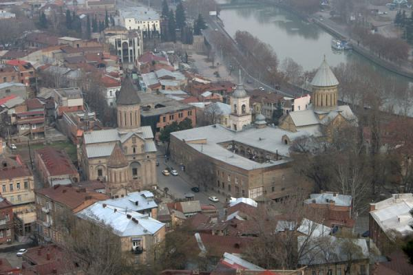 Close-up of streets of Tbilisi from Narikala Fortress | Narikala Fortress | Georgia