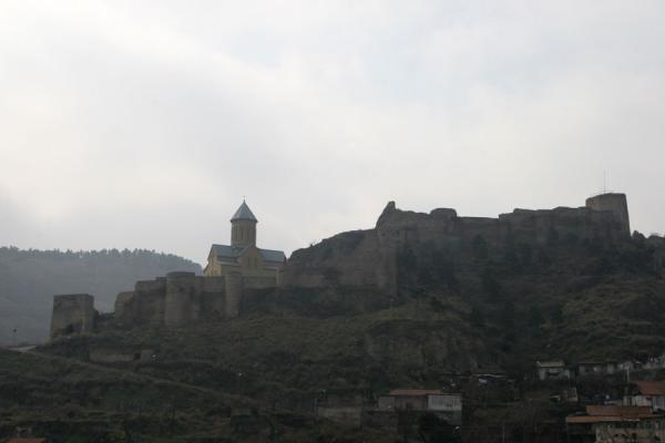 Picture of Narikala fortress and hill dominating the Tbilisi skylineTbilisi - Georgia